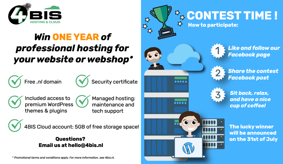Win one year of free professional hosting for your website